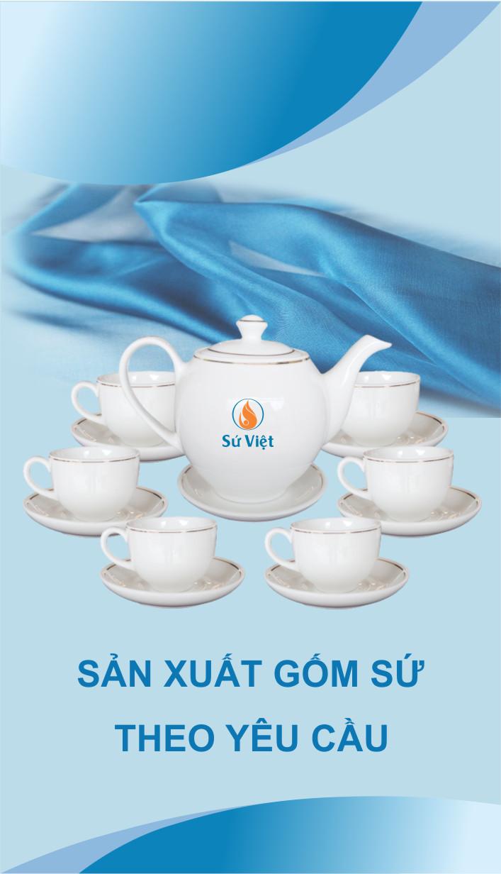 âm chén in logo xưởng gốm Sứ Việt