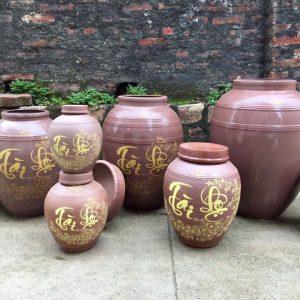 Bình rượu Bát Tràng Tài Lộc