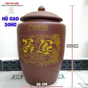 Hũ đựng gạo Bát Tràng 30kg