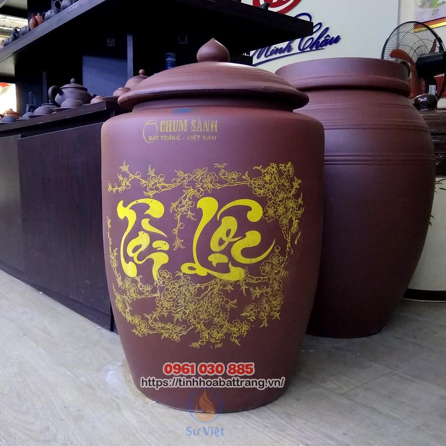 Mẫu hũ gạo sành Bát Tràng 30kg