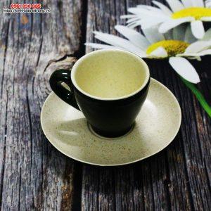 Ly Cafe Espresso sứ xanh rêu