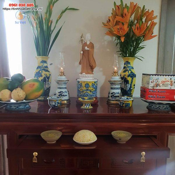 Bộ đồ thờ phật Địa Tạng Vương Bồ Tát