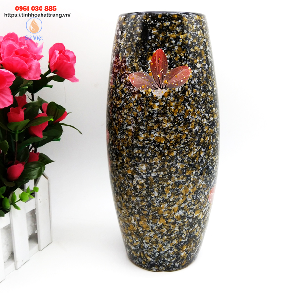Bom đá hoa gấm Bát Tràng màu nâu