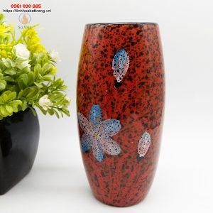 Bom đá hoa gấm Bát Tràng màu đỏ