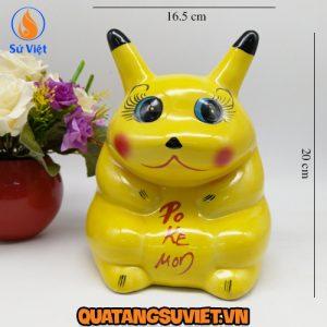 Pikachu tiết kiệm đẹp Bát Tràng