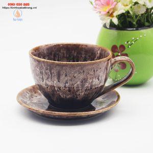 Tách cà phê cappuccino Bát Tràng M07