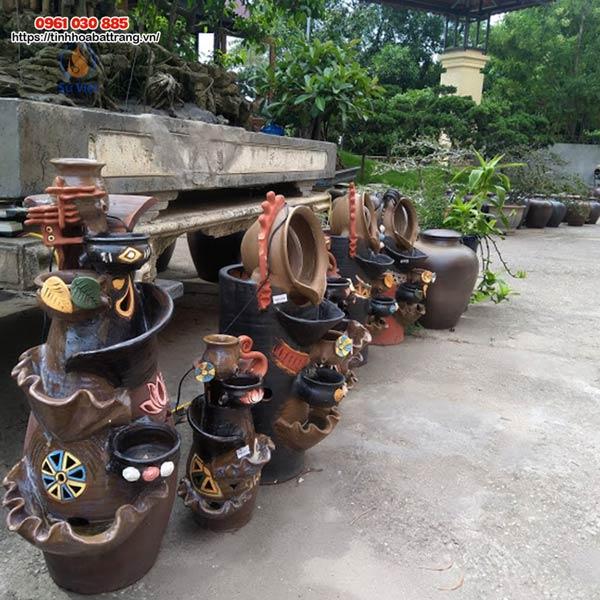 Xưởng cung cấp đầy đủ các chủng loại, kiểu dáng, kích thước sản phẩm gốm sứ trang trí sân vườn