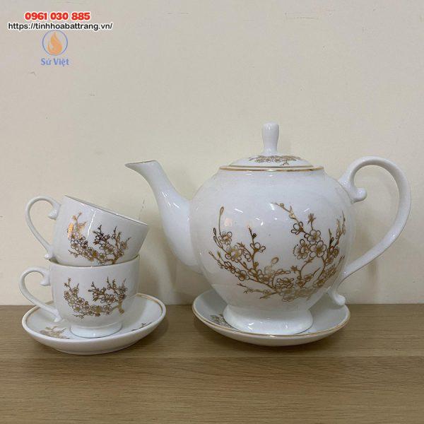 Bộ ấm trà hoa vàng